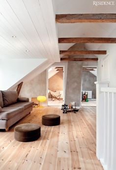 WABI SABI Scandinavia - Design, Art and DIY.: Mixing old and new in a renovated Swedish vicarage Style At Home, Architecture Design, Scandinavia Design, Interior And Exterior, Interior Design, Design Art, Nordic Interior, Design Ideas, Attic Spaces
