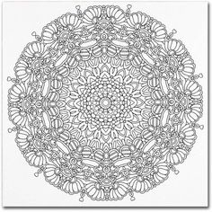 Trademark Fine Art Mixed Coloring Book 16 inch Canvas Art by Kathy G. Ahrens, Size: 24 x 24, Assorted