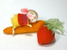 Needle Felted Animal Dressed Mouse Bunny