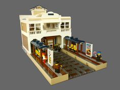 LEGO Custom MOC Modular Grand Central Railway Station rear view - Step by step instuctions available from Bricker & Co Unlimited (see link)