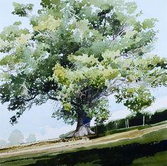 Árbol fantástico!, acuarela - Ian Sidaway