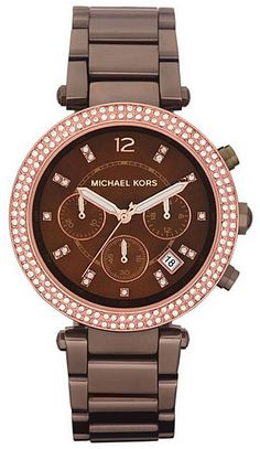 What about buying your gifts in advance to save money and to make next Christmas easier? Michael Kors Parker Chronograph Chocolate Dial Ladies Watch MK5578. Discount from 250.00 to $201.75 (You save 48.25 ).