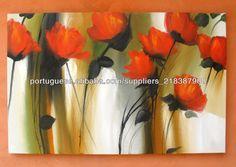 100% feito à mão Decorativas pinturas a óleo sobre tela abstrato da flor