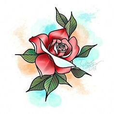Super Ideas For Neo Traditional Rose Tattoo Flowers Neo Traditional Roses, Traditional Tattoo Flowers, Neo Traditional Tattoo, American Traditional, Tattoo P, Color Tattoo, Tattoo Drawings, Tattoo Flash, Flower Tattoo Designs