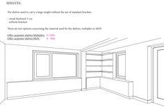Corner book shelves 3D plan