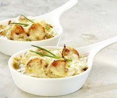 Ovenpannetje met scampi's en prei - Colruyt Culinair !
