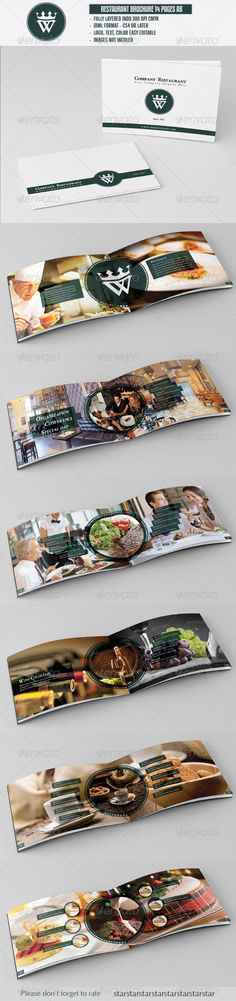 s A5 professional design   IDML format open Indesign CS4 or later  Completely  #pattern #restaurant