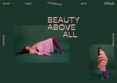 Vintage Graphic Design Bizuz Vintage Clothing on Behance - Website Design Layout, Website Design Inspiration, Web Layout, Layout Design, Lettering, Typography Design, Palette Pastel, Palette Design, Identity