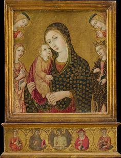 [Renaissance] Sano di Pietro (Ansano di Pietro di Mencio) | Madonna and Child with the Dead…
