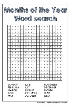 months of the year word search free printables Grammar Lessons, Writing Lessons, Teaching French, Teaching English, Teaching Spanish, Childrens Word Search, Kindergarten Word Search, Word Puzzles For Kids, Early Finishers Activities