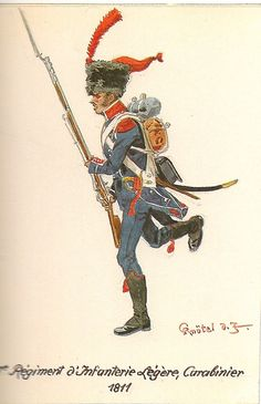 French; 7th Light Infantry, Carabiner 1811. Most regiments at this time had stopped using the colpack.