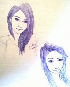 Desenho a caneta feito pela Sabrina. no Curso se aprende de tudo...