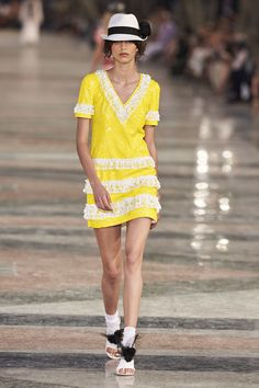 CHANEL | Cruise 2017 | Ruches - Dress - Sequins | Via TrendForTrend
