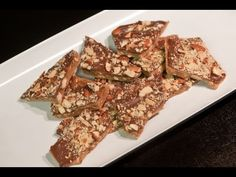 "VIDEO  ""Almond Roca""...homemade almond toffee with chocolate - Part 2"
