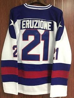 fefd79e31 Mike Eruzione  21 1980 Miracle On Ice Hockey Jersey Movie ALL Stitched  S-XXXL