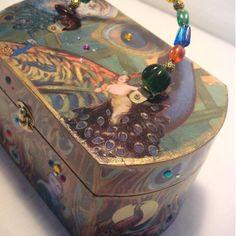 Peacock Cigar Box Purse