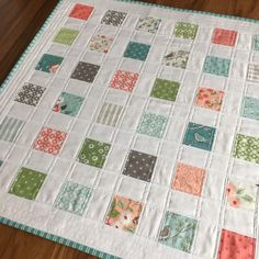 Fresh Dew Drops: June - 12 minis in 12 months 2018 - Mini Charm Fun quilt tutorial, Mini charm pack quilt wall hanging Nest by Lella Boutique
