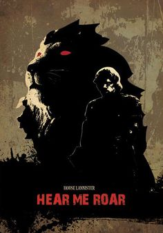 House Lannister Hear Me Roar - Game of Thrones Poster Print