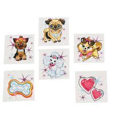 prizes-Fashion Puppy Tattoos - OrientalTrading.com