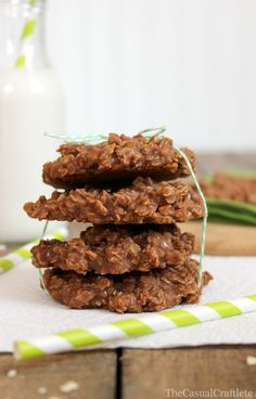 i made these at 11pm last night, with a quarter of the recommended sugar (healthy?). No Bake Cookies with Almond Milk.