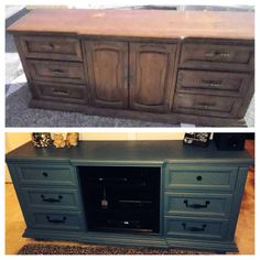 Entertainment center from old dresser
