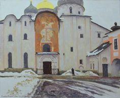 http://www.russianfineart.com/catalog/prod?productid=25499 Cathedral Of St Sophia Veliky Novgorod oil canvas  Russian Artist Durandin Dmitry