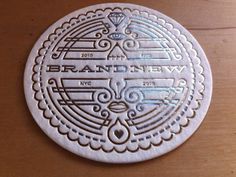 brand new conference coaster