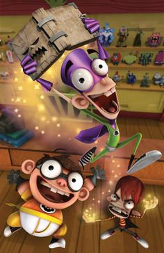 Fanboy, Chum Chum and Kyle in Fanboy and Chum Chum