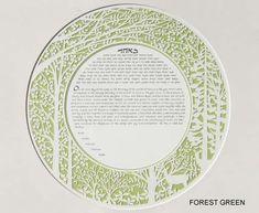 Melanie Dankowicz Peaceful Papercut Forest Ketubah 1
