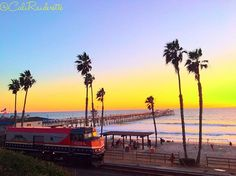 Monday Motivation 🚂 #beach #beachlife #beachday #beaches #beachvibes #sunset #palmtrees #ocean #pier #train #traintracks #railroad #view #colorful #skyporn #mondaymotivation #naturalbeauty #nature #naturelover #naturephotography #california #travel #explore #mermaid #gypsy #outside #outdoors #summer #caligirl Natural Beauty from BEAUT.E