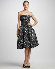 All you need is a #POC with this Gorgeous Scallop-Print Party Dress by Naeem Khan at @Bergdorfs www.ChristinaStyles.com