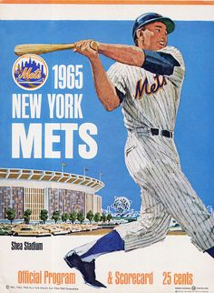 1965 NY Mets Shea Stadium program