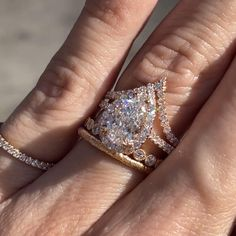 Celebrity Engagement Rings, Pear Shaped Engagement Rings, Rose Gold Engagement Ring, Designer Engagement Rings, Diamond Wedding Bands, Diamond Rings, Gold Rings, Rose Gold Wedding Jewelry, Wedding Rings