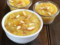 Pineapple Sheera or Pudding is a delicious dessert prepared in less than 20 minutes. This sweet will entice your taste buds, satisfy all your sweet cravings Indian Dessert Recipes, Indian Sweets, Ethnic Recipes, Indian Recipes, Sheera Recipe, Pineapple Pudding, Navratri Recipes, Greece Food, Muffins