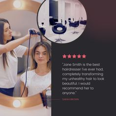 Promote your business with social proof! Don't be shy to showcase the wonderful reviews you have received from your clients to help you attract more! Best Hairdresser, Social Proof, Instagram Post Template, Promote Your Business, Business Branding, That Look, Good Things, Templates, Instagram Posts
