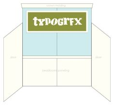 TYPOGRFX booth design.. Finally a tutorial on how to build a faux wall for trade show booths!