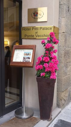 fiori e primavera all'Hotel Pitti Palace a Firenze!