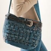 Blue Jeans Purse  A contest-winning purse created from a recycled pair of jeans