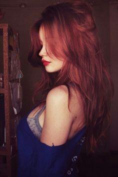red auburn haircolor