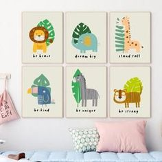 Colorful safari nursery décor print(s). Safari animals prints for a cute nursery wall art décor. Simple baby animals prints for a modern nursery look. Fun little kids room décor or playroom wall décor. Nursery art baby nursery. 🖤 Get excited about decorating for your little one! #safarinursery #animalnursery #nurserysafari #sunnyandpretty Safari Theme Nursery, Space Themed Nursery, Animal Nursery, Woodland Nursery, Nursery Themes, Nursery Decor, Girl Nursery, Nursery Ideas, Nursery Artwork