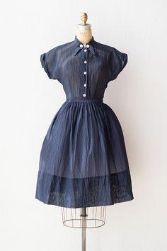 vintage 1940s dress | 40s dress | Bruges Blue Dress