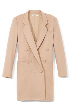 Nude Wool Coat by Rodarte