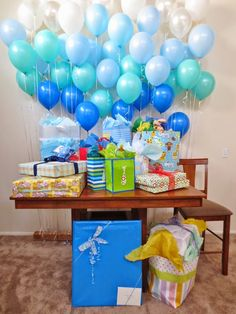 Baby Shower Decorating Ideas For a Cute and Inexpensive Baby Shower   Ballons Decoration. http://whatwomenloves.blogspot.com/2014/06/baby-shower-decorating-ideas-for-cute.html