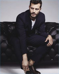 Actor Jamie Dornan dons a Neil Barrett suit for the pages of GQ Australia.