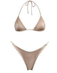 e5c86b996ca Nude nylon spandex neck tie bikini. Fully adjustable triangle top with self  tie fastenings and