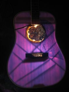 Like giving a guitar a purple x ray!