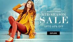 Women's Fashion MID SEASON SALE UPTO 60% OFF at Snapdeal.com  Enjoy Get Buy Lehengas, Salwar Suits, Cocktail Anarkalis, Designer Sarees, Winter Wear, Outerwear & Jackets, Cardigans & Pullovers, Essential Thermals, Women Boots, Brands You Love, Sport Shoes, Women Casual Shoes, Trendy Handbags, Fashion Jewellery, Party Clutches, Necklaces, Sunglasses, Precious Jewellery, Spectacle Frames, Branded Watches, women's Perfume, Fashion Accessories, Shree, Aboli & More and etc.