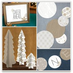 New Year's Engagement Party! Navy, Blue, Silver, White and Black. silver and gold party decor $65 to $128