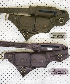 The Hipster Cotton Utility Belt Festival Belt Pocket Belt Ceinture Louis Vuitton, Steampunk Accessoires, Bum Bag, Bracelet Cuir, Leather Working, Purses And Bags, Pouch, Cotton, Fanny Pack