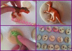 Para hacer galletas de fósiles de dinosaurios